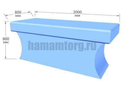 Массажный стол для хамама