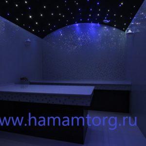 Звездное небо – для хамама на 200 точек. Белое мерцание