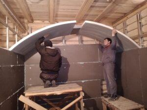 Установка купола потолка в хамаме