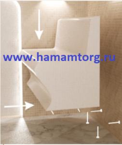 Монтаж лежаков для хамама
