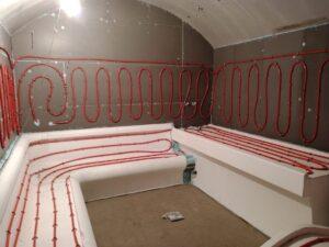 Теплый пол для лежаков в хамам