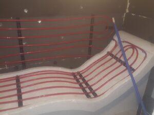 Укладка теплого пола в лежаки для хамама