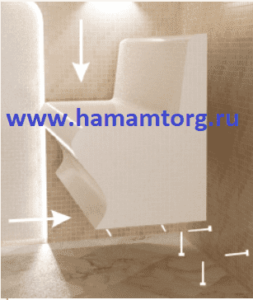 Установка лежаков для хамама